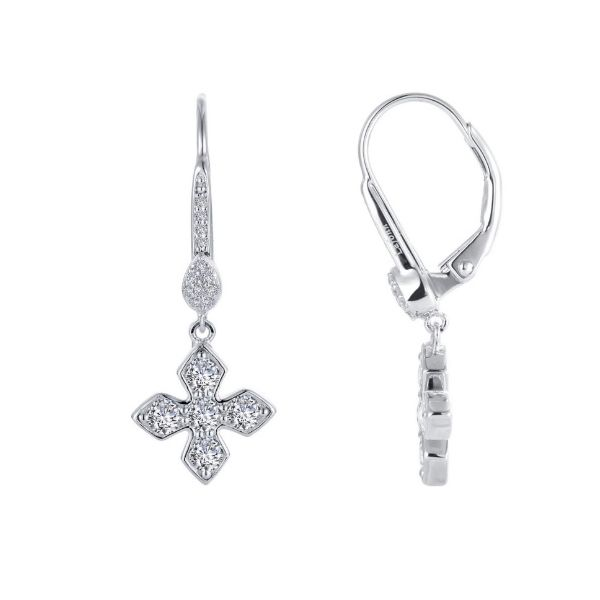Lafonn Dainty Maltese Cross Drop Earrings Geralds Jewelry Oak Harbor, WA