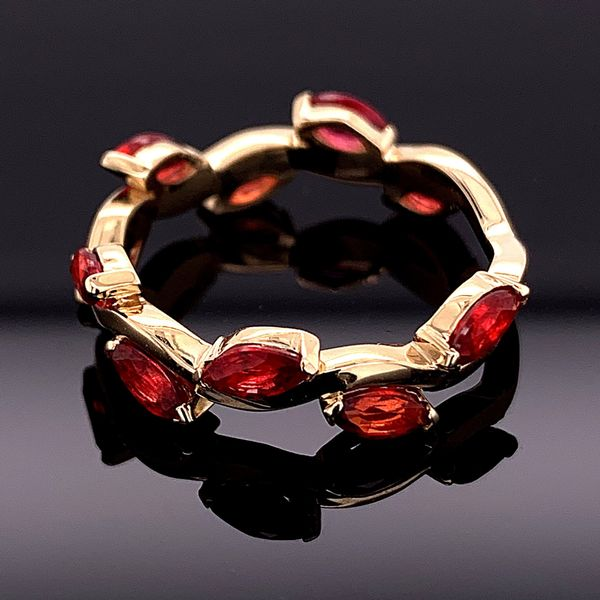 Custom Made Marquise Fire Ruby Ring Image 2 Gerald's Jewelry Oak Harbor, WA