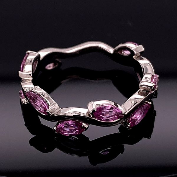 Custom Made Marquise Pink Sapphire Ring Gerald's Jewelry Oak Harbor, WA