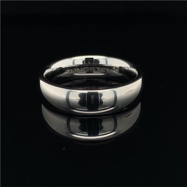 Tungsten Band With Domed Profile And High Polish Geralds Jewelry Oak Harbor, WA