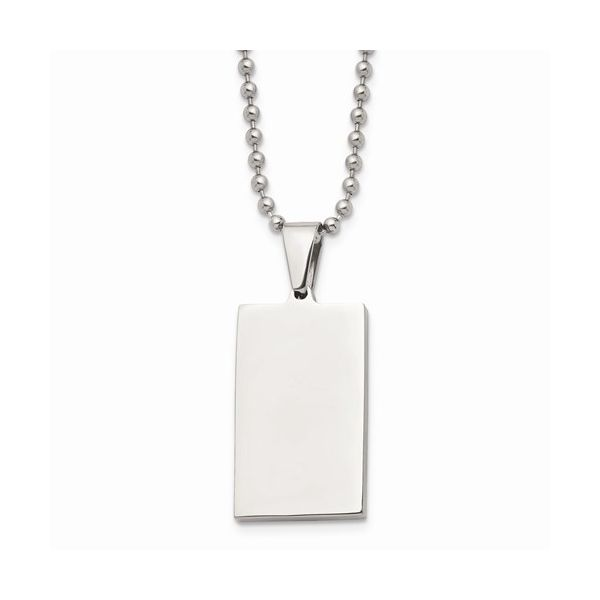 Stainless Steel Brushed and Polished Revisable Dog Tag Gerald's Jewelry Oak Harbor, WA