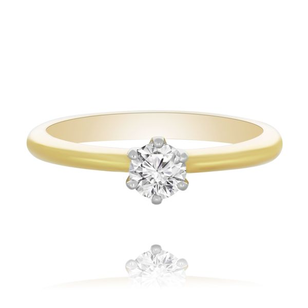 9Ct Yellow Gold Soliatire Engagement Ring Image 2 Georgies Fine Jewellery Narooma, New South Wales