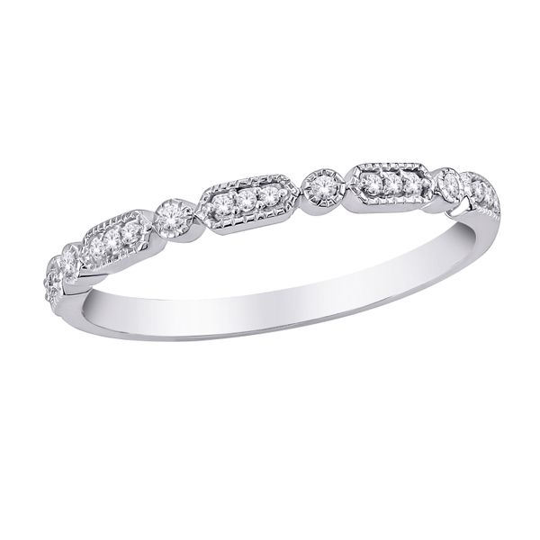 10Ct White Gold Round And Oblong Shaped Eternity Band Georgies Fine Jewellery Narooma, New South Wales