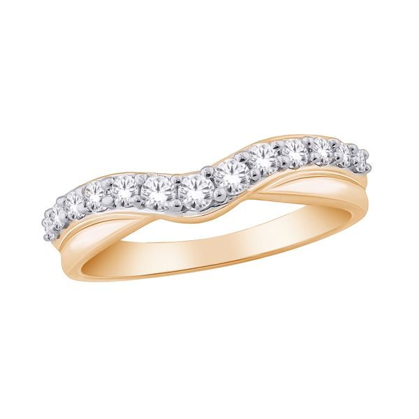 9Ct Yellow Gold Diamond V Shaped Anniversary Band With Tdw=0.25Ct Georgies Fine Jewellery Narooma, New South Wales
