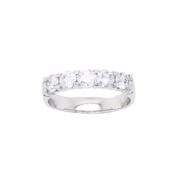 14Ct White Gold Diamond Eternity Ring With 5 X Claw Set Set 0.20Ct Diamonds. Georgies Fine Jewellery Narooma, New South Wales