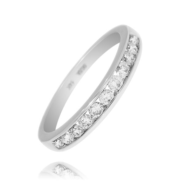 10Ct White Gold Channel Set Diamond Band Georgies Fine Jewellery Narooma, New South Wales