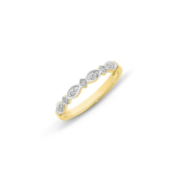 9Ct Yellow Gold Square And Marquise Shaped Diamond Ring Georgies Fine Jewellery Narooma, New South Wales