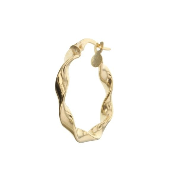 9Ct Yellow Gold Twist Hoop Earrings Georgies Fine Jewellery Narooma, New South Wales