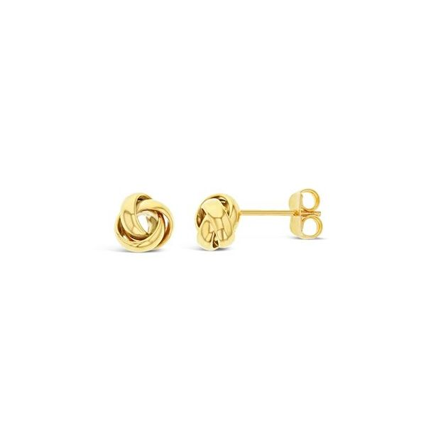 9Ct Yellow Gold Knot Stud Earrings Georgies Fine Jewellery Narooma, New South Wales