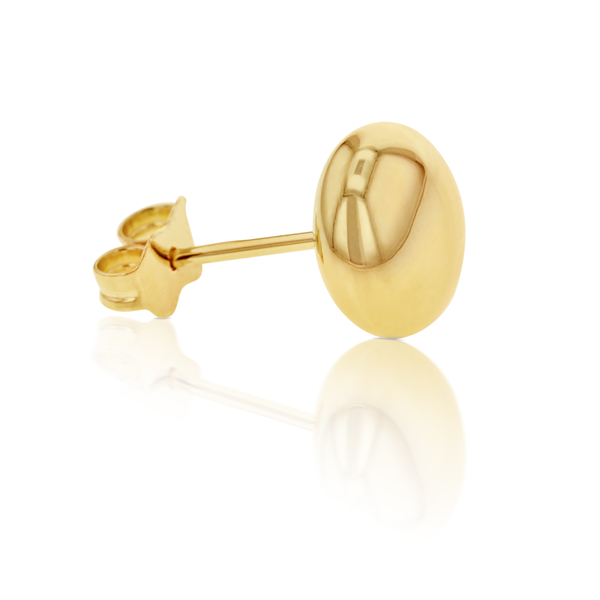 9Ct Yellow Gold Low Dome Stud Earrings Georgies Fine Jewellery Narooma, New South Wales