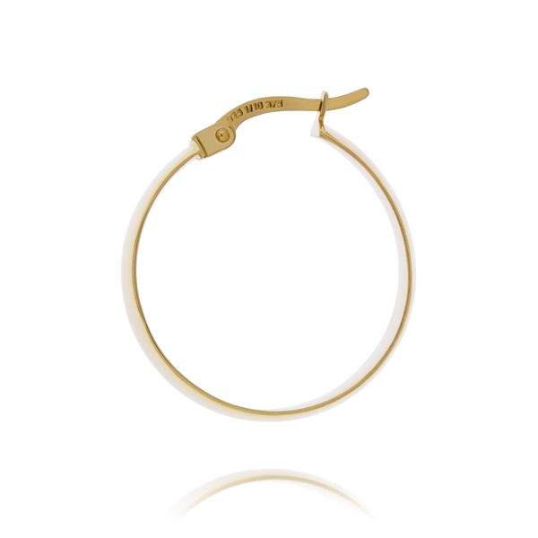 Yellow Gold Wide Hoop Earrings - 20mm Image 3 Georgies Fine Jewellery Narooma, New South Wales