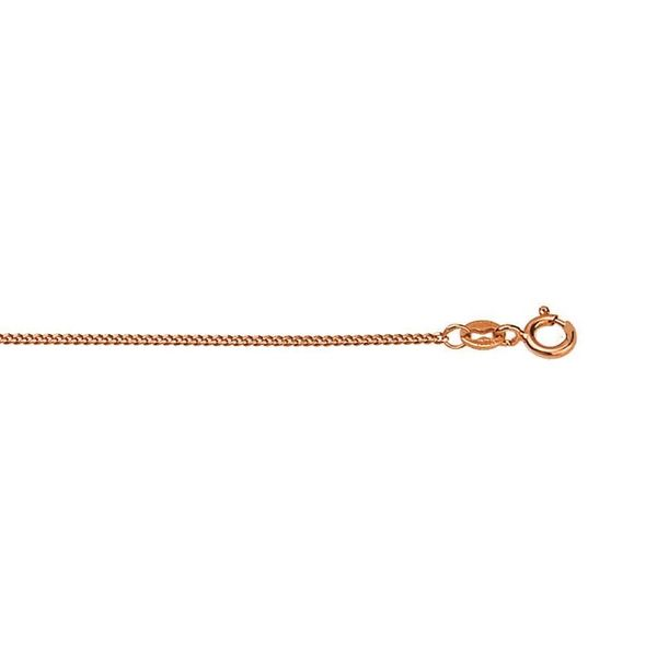 9Ct Rose Gold Diamond Cut Curb Chain Image 2 Georgies Fine Jewellery Narooma, New South Wales