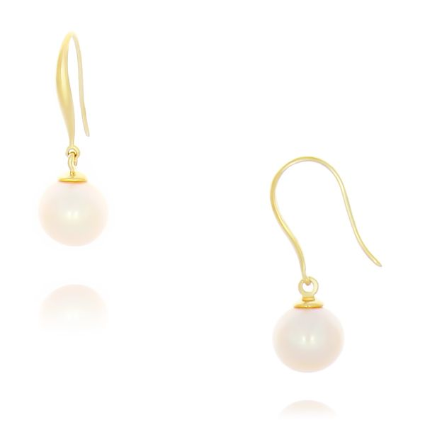 9k Yellow Gold pearl earring Georgies Fine Jewellery Narooma, New South Wales