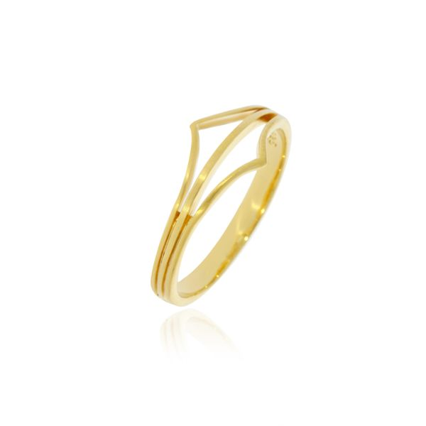 Yellow Gold Plated Split Point Ring Georgies Fine Jewellery Narooma, New South Wales
