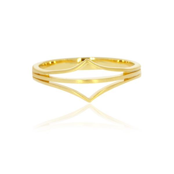 Yellow Gold Plated Split Point Ring Image 3 Georgies Fine Jewellery Narooma, New South Wales