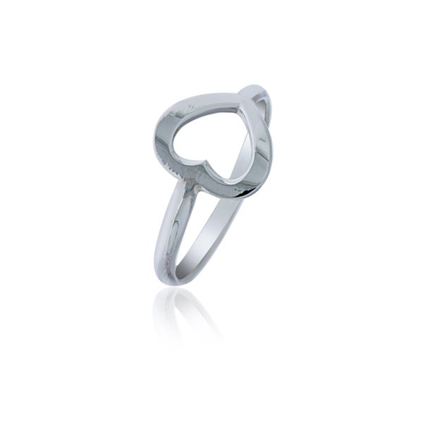 Silver Open Heart Ring Georgies Fine Jewellery Narooma, New South Wales