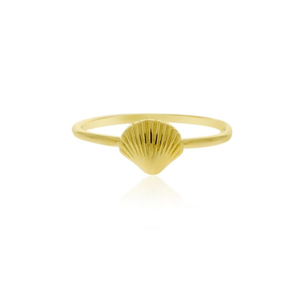 Yellow Gold Plated Shell Ring Image 2 Georgies Fine Jewellery Narooma, New South Wales