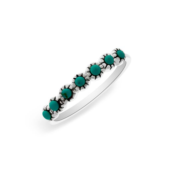 Onatah Ring With 7 Round Turquoise Georgies Fine Jewellery Narooma, New South Wales