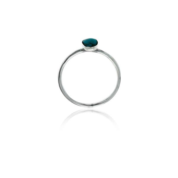 Silver Long Oval Turquoise Ring Image 2 Georgies Fine Jewellery Narooma, New South Wales