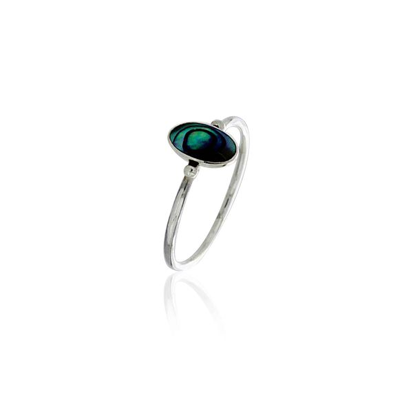 Silver Long Oval Paua Ring Georgies Fine Jewellery Narooma, New South Wales