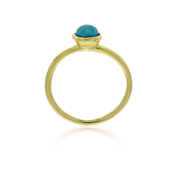 Mojo Yellow Gold Plated Ring With Turquoise - Stacker Ring Image 2 Georgies Fine Jewellery Narooma, New South Wales