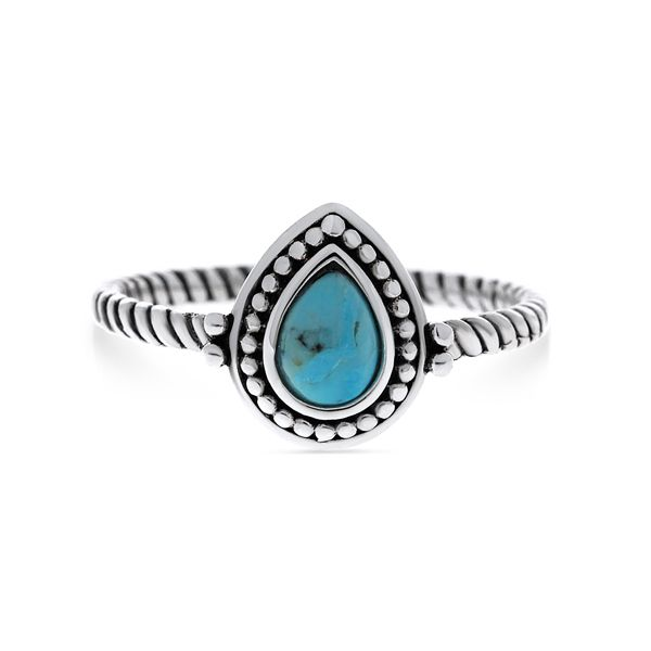 Silver Ring With Pear Shaped Turquoise Image 2 Georgies Fine Jewellery Narooma, New South Wales