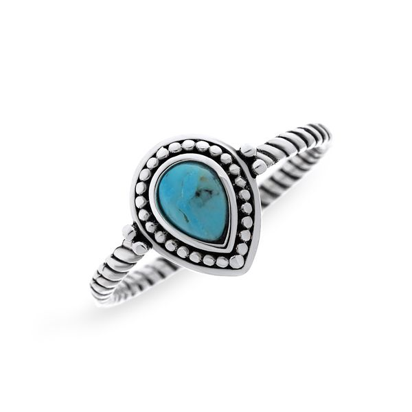Silver Ring With Pear Shaped Turquoise Image 3 Georgies Fine Jewellery Narooma, New South Wales