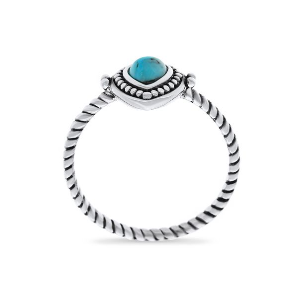 Silver Ring With Pear Shaped Turquoise Image 4 Georgies Fine Jewellery Narooma, New South Wales