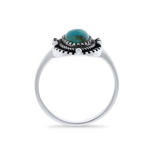 Silver Triple Bezel Oval Turquoise Ring Image 4 Georgies Fine Jewellery Narooma, New South Wales