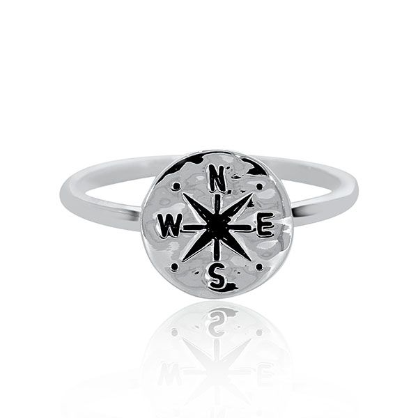 Silver Compass Ring Georgies Fine Jewellery Narooma, New South Wales