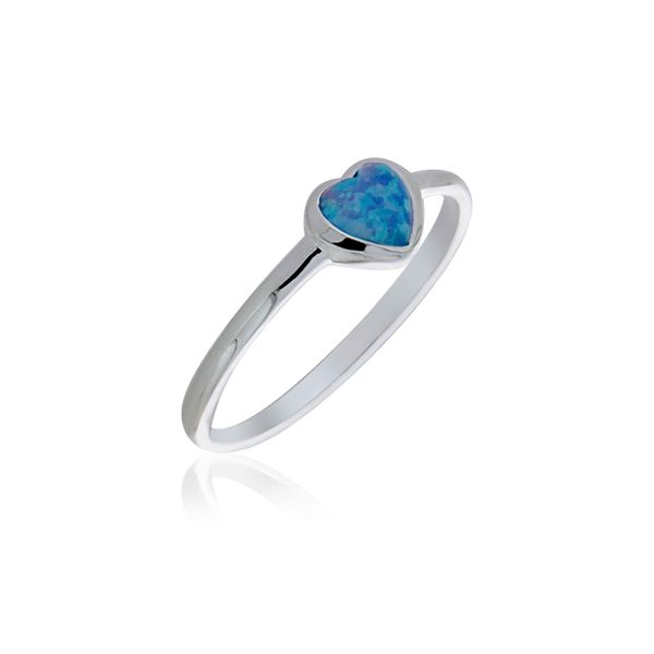 Sterling Silver Heart Shaped Blue Opalite Ring Georgies Fine Jewellery Narooma, New South Wales