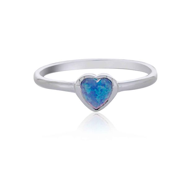 Sterling Silver Heart Shaped Blue Opalite Ring Image 3 Georgies Fine Jewellery Narooma, New South Wales
