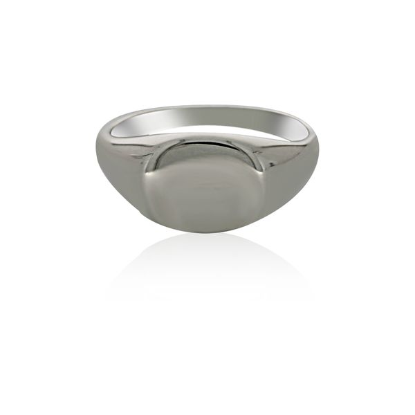 Silver Oval Signet Ring Image 2 Georgies Fine Jewellery Narooma, New South Wales