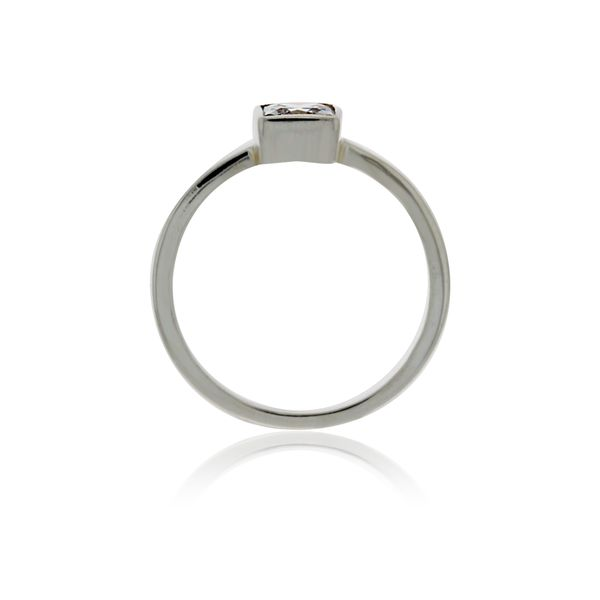 Silver Solitaire Square Ring With CZ Image 3 Georgies Fine Jewellery Narooma, New South Wales