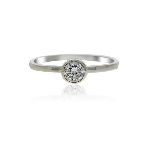 Silver Solitaire Ring with CZ Image 2 Georgies Fine Jewellery Narooma, New South Wales