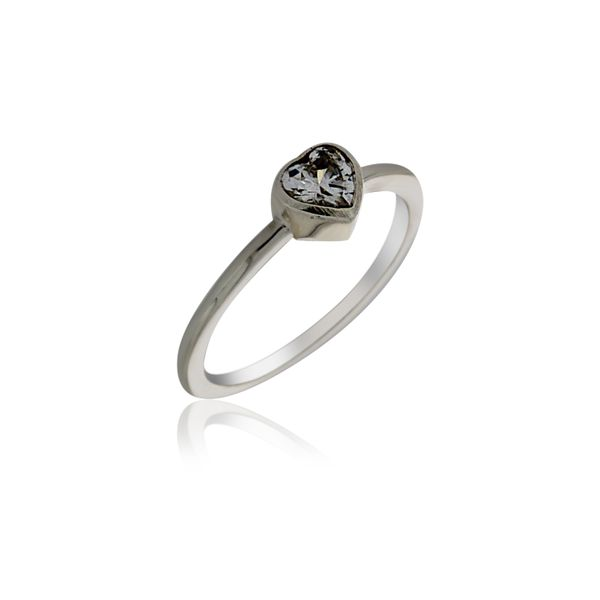 Silver Heart Ring With CZ Georgies Fine Jewellery Narooma, New South Wales