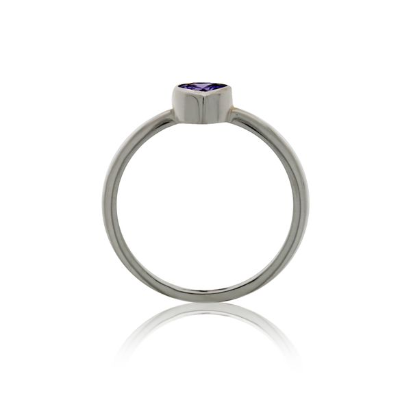 Silver Heart Purple CZ Ring Image 3 Georgies Fine Jewellery Narooma, New South Wales