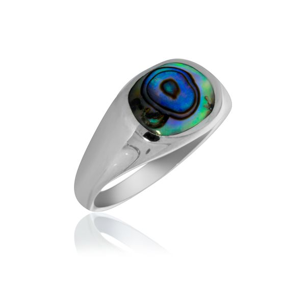 Silver Oval Paua Signet Ring Georgies Fine Jewellery Narooma, New South Wales