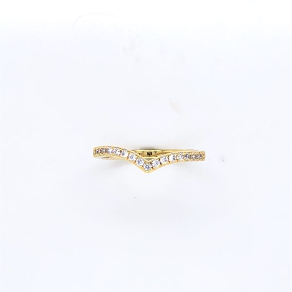 Gold Plated With CZ Vee Shaped Ring Georgies Fine Jewellery Narooma, New South Wales