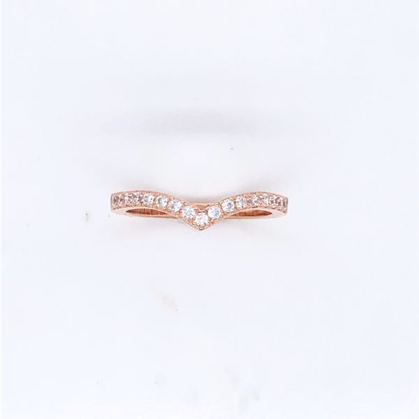 Rose Gold Plated With CZ Vee Shaped Ring Georgies Fine Jewellery Narooma, New South Wales