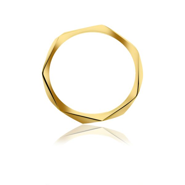 Yellow Gold Plated Faceted Stacker Ring Image 3 Georgies Fine Jewellery Narooma, New South Wales