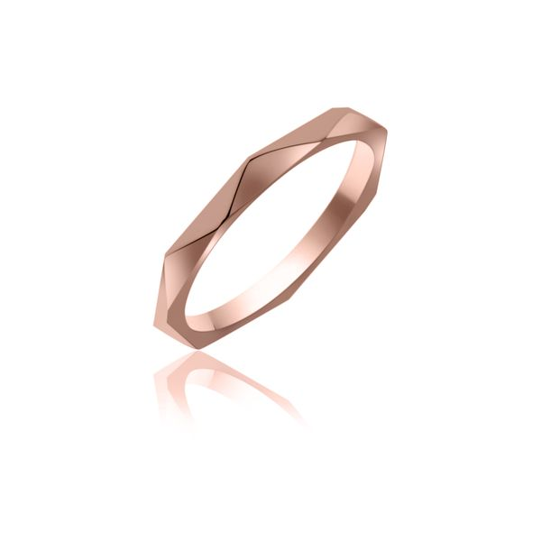 Rose Gold Plated Faceted Stacker Ring Georgies Fine Jewellery Narooma, New South Wales