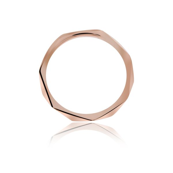 Rose Gold Plated Faceted Stacker Ring Image 2 Georgies Fine Jewellery Narooma, New South Wales