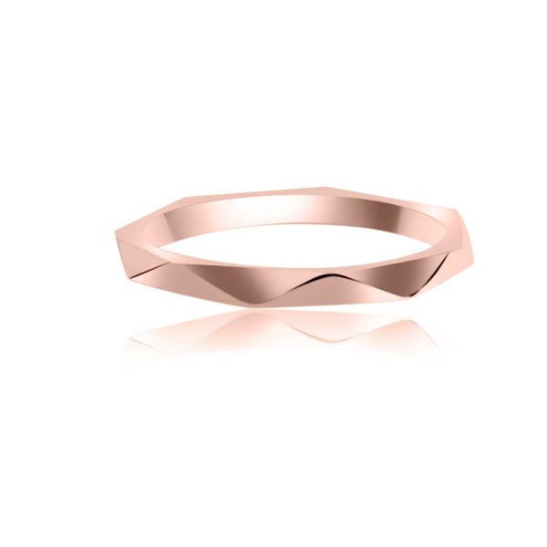 Rose Gold Plated Faceted Stacker Ring Image 3 Georgies Fine Jewellery Narooma, New South Wales