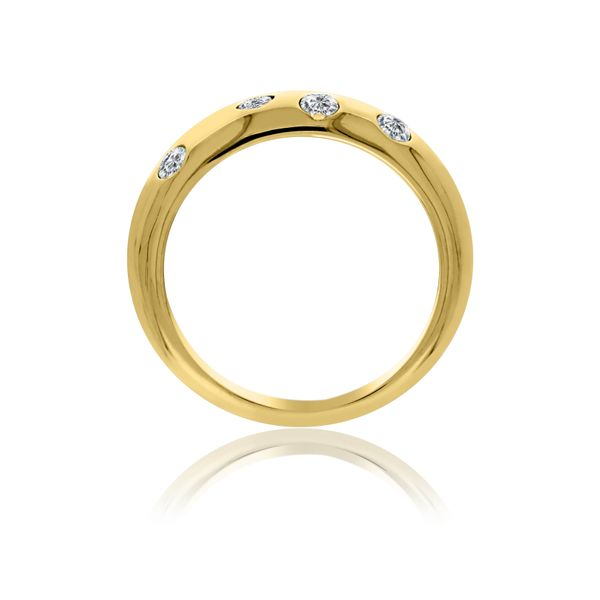 Yellow Gold Plated Dome Ring With Round Cz's Image 2 Georgies Fine Jewellery Narooma, New South Wales