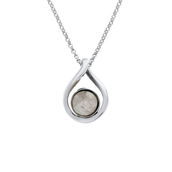 Silver Twist Round Rose Quartz Pendant Georgies Fine Jewellery Narooma, New South Wales