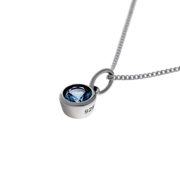 Olivia Sterling Silver Rhodium Plated Light Blue Cz Bezel Set Pendant Georgies Fine Jewellery Narooma, New South Wales
