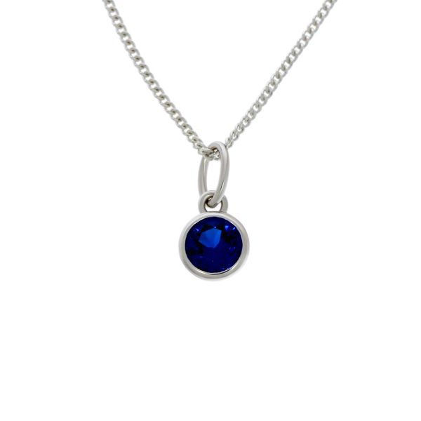 Olivia Sterling Silver Rhodium Plated Blue Cz Bezel Set Pendant Image 2 Georgies Fine Jewellery Narooma, New South Wales