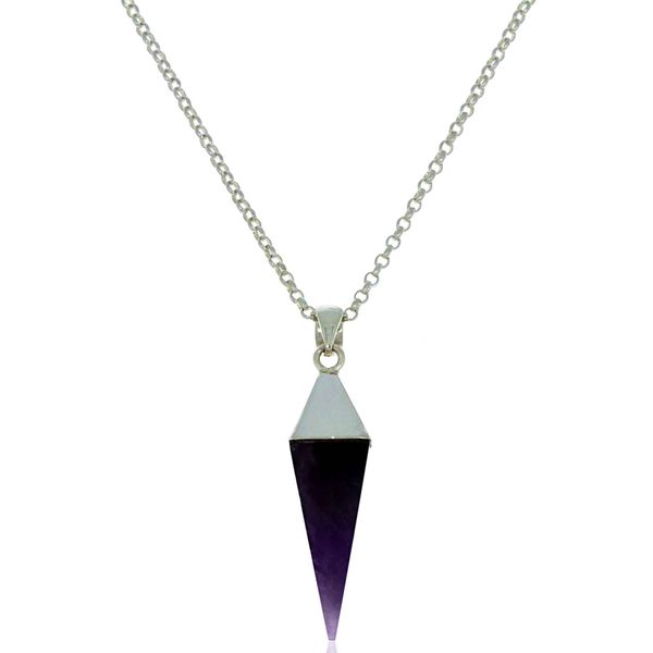 Onatah Sterling Silver Large Amethyst Prism Pendant Georgies Fine Jewellery Narooma, New South Wales
