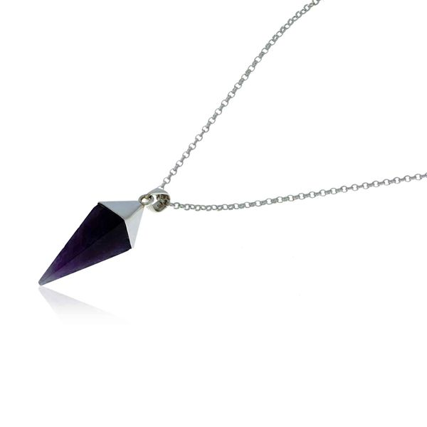Onatah Sterling Silver Large Amethyst Prism Pendant Image 2 Georgies Fine Jewellery Narooma, New South Wales